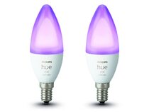 Philips Hue White & Color Ambiance, 2x E14 Glühbirne, 5,3 Watt, Bluetooth