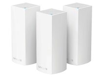 Linksys Velop intelligentes Mesh WLAN-System, Tri-Band, 3er Pack, weiß