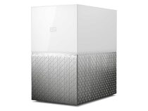 WD My Cloud Home Duo, 4 TB, Ethernet/USB 3.0, weiß/silber