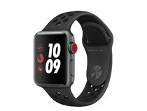 Apple Watch Nike 3+, GPS & Cell. 38 mm Alu. space grau, Sportarmband anthr/blk