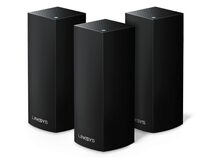 Linksys Velop intelligentes WLAN-System, Tri-Band, 3er Pack, schwarz