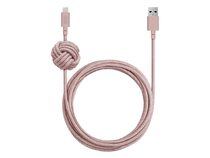Native Union Night Cable, Ladekabel, USB auf Lightning, 3 m, rosa
