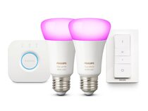 Philips Hue White & Color Ambiance Starter Kit, 2x E27 Glühbirnen, Bluetooth