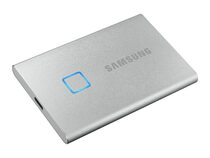 Samsung Portable SSD T7 Touch, 500 GB externe SSD, USB 3.2 Gen 2/USB-C, silber