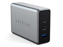 Satechi 100W USB-C PD GaN Charger, Ladeadapter, 2x USB-C PD/1x USB-A, spacegrau