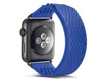 Networx Watch Armband, Silikonarmband für Apple Watch 42/44 mm, blau/schwarz