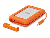 LaCie Rugged Thunderbolt, 2 TB externe Festplatte, USB-C/USB 3.0, orange