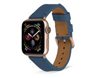 Artwizz WatchBand Leather, Armband für Apple Watch 38/40 mm, Nappaleder, blau