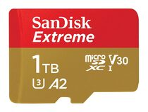 SanDisk Extreme, microSDXC Karte, A2, 1 TB inkl. SD Adapter