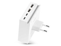 usbepower HIDE Mini 4-in-1 Wall Charger, 27W Ladeadapter, weiß