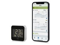 Eve Weather, smarte Wetterstation, Apple HomeKit, Thread, schwarz/silber