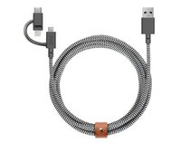 Native Union Belt Cable Universal, USB-C/Micro-USB/Lightning, 2 m, s/w