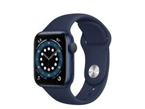Apple Watch Series 6, 40 mm, Aluminum blau, Sportarmband dunkelmarine
