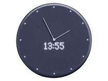 Glance Clock, smarte Wanduhr mit LED-Display, schwarz