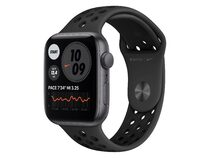 Apple Watch Nike SE, 44 mm, Aluminium space grau, Sportarmband anthr./schwarz