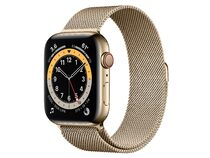 Apple Watch Series 6, GPS & Cellular, 44 mm, Edelstahl, Milanaise-Armband