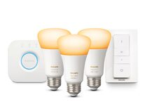 Philips Hue White Ambiance Starter Kit, 3x Glühbirnen, Bridge, 8,5W, Bluetooth