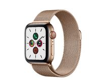 Apple Watch Series 5, GPS & Cellular, 40 mm, Edelstahl gold, Milanaise gold