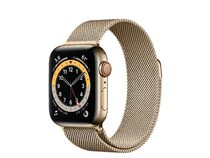 Apple Watch Series 6, GPS & Cellular, 40 mm, Edelstahl Milanaise-Armband