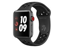 Apple Watch 3 Nike+, GPS & Cell. 42 mm Alu. space grau, Sportarmband anthr/blk
