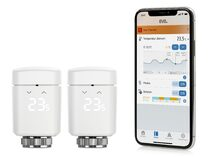Eve Thermo, 2x smartes Heizkörperthermostat, Bluetooth, weiß