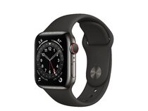 Apple Watch Series 6, GPS & Cellular, 40 mm, Edelstahl Sportarmband