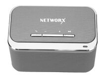 Networx Mini-Speaker, mobiler Lautsprecher, Bluetooth 4.1, space grau